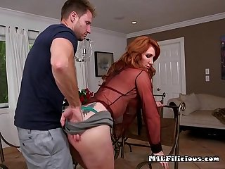 Mature temptress freya fantasia gets fondled by stud