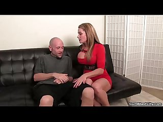 Cumblast sexy milf handjob