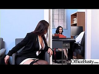 Round big tits girl abby lee brazil valentina nappi get banged in office clip 01