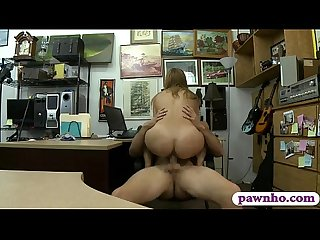 Amateur babe with glasses gets fucked by pawn keeper