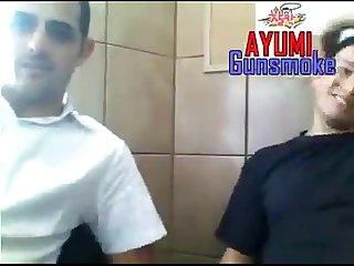 Policial mostrando o pau Na webcam