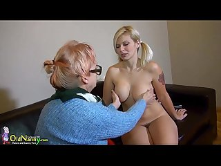 Oldnanny granny mature masturbate with orange dildo
