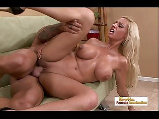 Big tit blonde milf gets picked up fucked and facialized