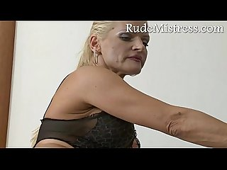 Brutal mistress and her young toy