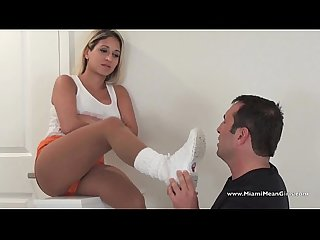Hooters waitress smelly sock worship