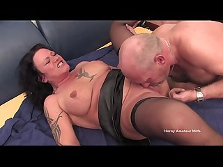 Mature brunette for the first time fucks with A stranger and they make A 69