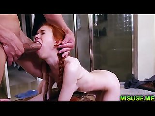 Omg redhead teen dolly little brutally fucked