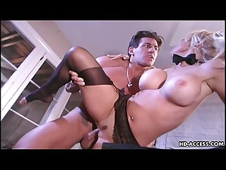 Kelly gets to be rammed deep by her man S rod