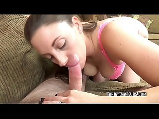 Busty milf melanie hicks gives a blowjob to a lucky geek