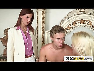 Horny Syren Demer Blackmails Stepson and His Girlfriend Jessie Volt into 3Some