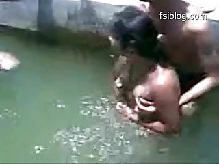 Desi naked swimming