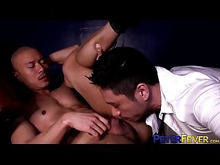 PETERFEVER Asian Hunk Duncan Ku Barebacked After Eating Ass