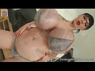Penelope black diamond sexy bikini fisting