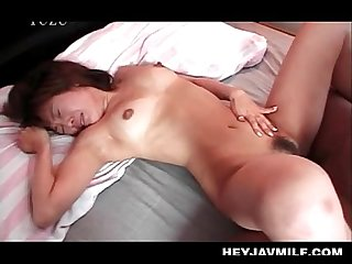 Aroused Asian mommy craving for orgasm cunt nailed hard