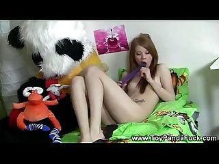 Teen girl alone and horny in her room