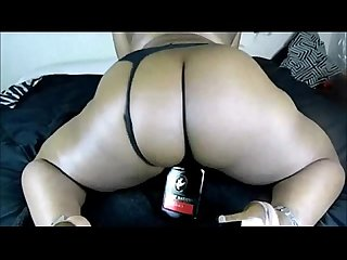 Ebony bbw milf fucking herself with anything