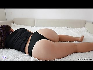 Big White Booty Play her Pussy Big Dildo