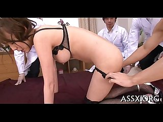 Erotic oriental bawdy cleft shaving and anal sex