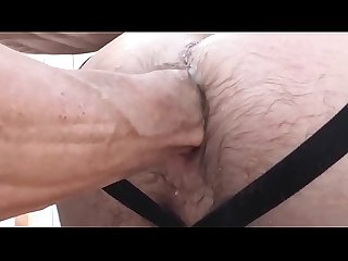 Dad play ass outdoor