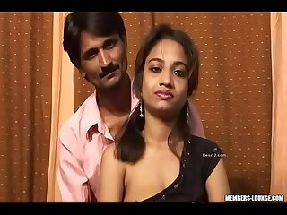 Young desi girl with old uncle