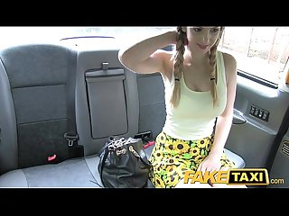 Fake taxi petite teen with big tits