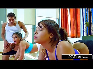 Yoga class turns into freaky foursome abella danger cassidy banks