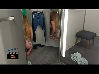 Public Quarantine Shopping Deepthroat Fuck - Canadian Blonde Green Eyes Almost Gets Caught 3..