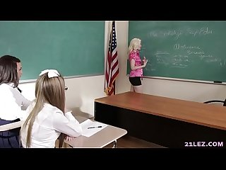Schoolgirls play a game with their lesbian teacher - Charlotte Stokely, Scarlett Sage and..