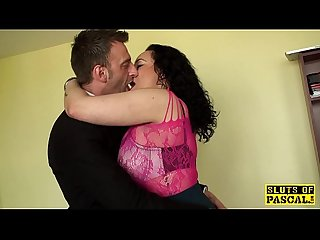Chubby british sub drilled hard by maledom