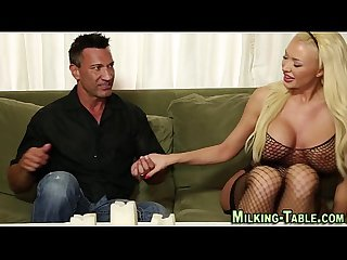 Pretty masseuse gets jizz