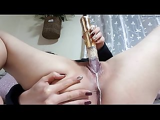 Horny amateur has a creamy orgasm on webcam paxcams.com
