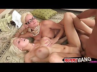 Rikki six and Nikita von james threesome in the living room