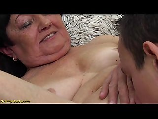 hairy 82 years old grandma first time toyboy sex