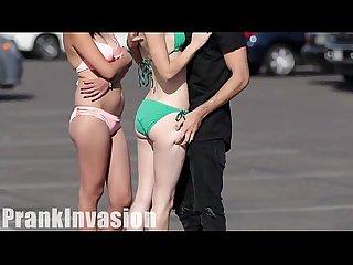 Kisssing prank