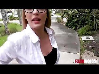 Sloan Harper In Curvy Glasses Chick Outdoor Sex