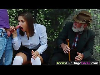Teen Abella Danger is banged at busstop