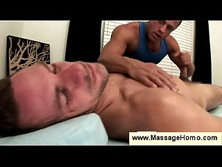 Gay makes blowjob part of massage