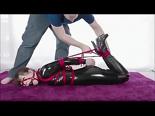 Cute Japanese Girl in latex gets tied up lpar bondage rpar asianbondagetube period com