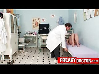 Cute teen patient Brody Beart and old old dirty gynecology doctor