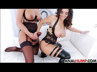 Lesbian strapon anal with phoenix marie and ava addams