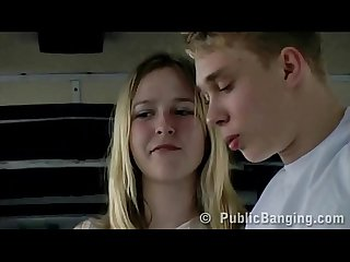 Extreme risky sex in a public bus couple fucking in front of all the passengers