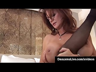 Huge Boobed Cougar Deauxma Grinds Young Paige's Pussy!