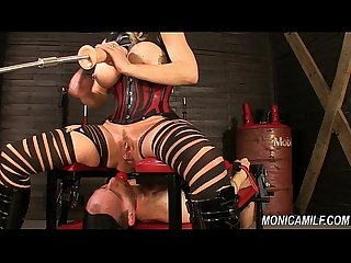 Monicamilf is squiring on her femdom slave - Norwegian Kink