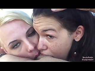 Ferris Wheel Threesome Blowjob with Eden Sin & SexySpunkyGirl