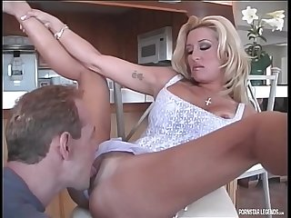 Jill Kelly fucked hard in classic scene taking a facial