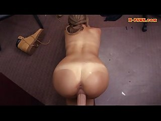 Cutie waitress nailed by horny pawn keeper at the pawnshop