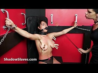Lesbian submissive demis fierce whipping and bondage of punished naughty slave