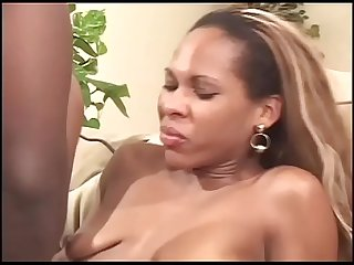 Black girl with amazing round ass fucked hard