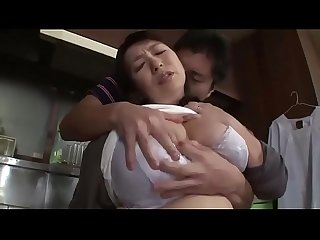 Asian stepmom forced by stepson in The kitchen www period stepfamilyxxx period com