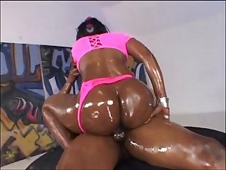 Big booty goddess going ham on bbc